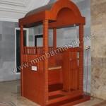 Mimbar Masjid Minimalis Atap Kubah