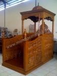 Mimbar Masjid Kubah Kayu Jati Kode ( MM 041 )