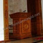 Mimbar Masjid Ukir Model Podium