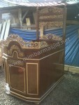 Mimbar Masjid Ukir Finishing Kombinasi Emas Kode ( MM 086 )
