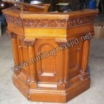 Podium Bar Minimalis Kayu Jati Kode ( MM 119 )