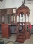 Mimbar Masjid Atap Kubah Model Lingkaran Kode ( MM 039 )