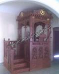 Desain Mimbar Masjid Atap Kubah Tampak Samping Kode ( MM 076 )