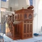 Mimbar Masjid Ukir Kerawang Jati Jepara Kode ( MM 089 )