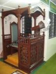 Ukiran Kerawang Mimbar Masjid Jepara Kode ( MM 074 )