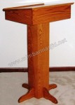 Model Podium Minimalis Simple Kayu Jati Kode ( MM 114 )